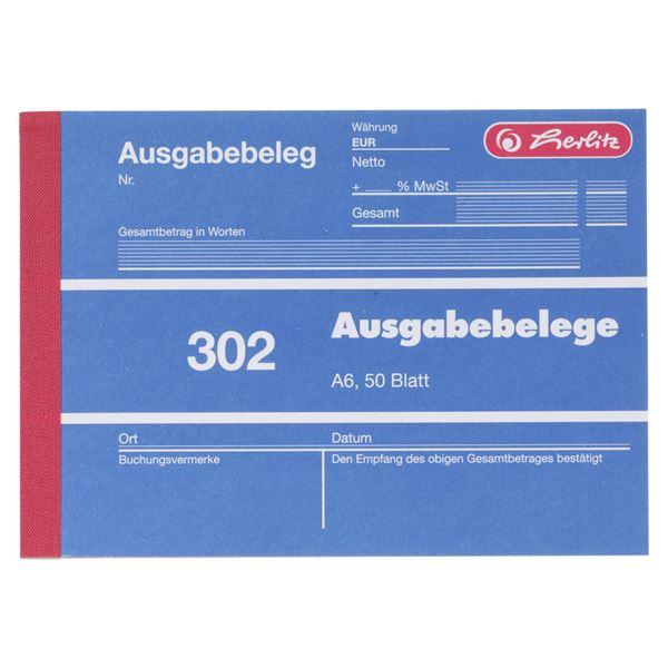 Herlitz Ausgabebeleg 302 DIN A6 - 5 x