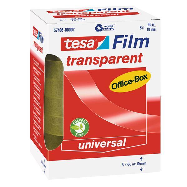 Tesa Film Transparent Office Box 19 mm  x  66 m - 8 Stück