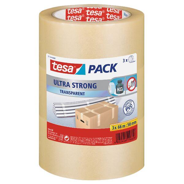Tesa Packband 50 mm  x  66 m Transparent - 3 Stück