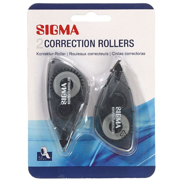 Sigma Korrektur-Roller Grau - 2 Stück