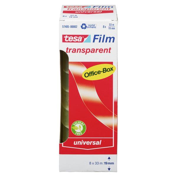 Tesa Film Transparent Office Box 19 mm  x  33 m - 8 Stück