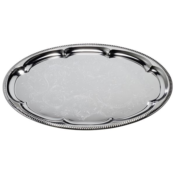 aro Partyplatte 35  x  45 cm Silber oval