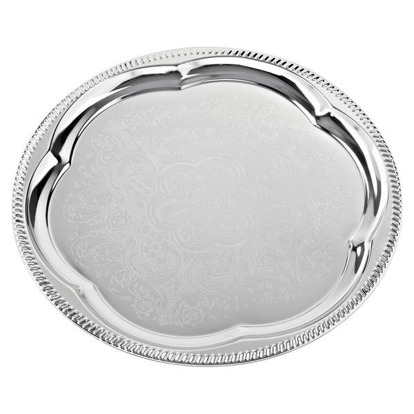 aro Partyplatte Silber rund Ø 35 cm