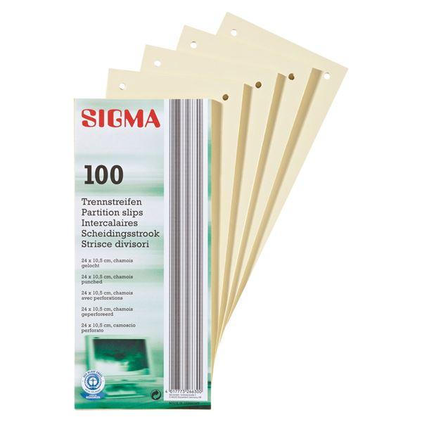 Sigma Trennstreifen - 100 Stück