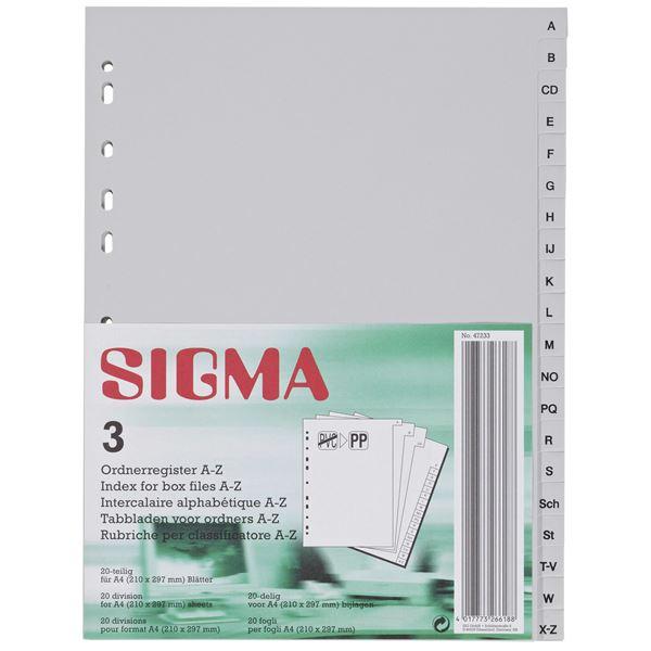 Sigma Ordnerregister A4 A-Z - 3 Stück