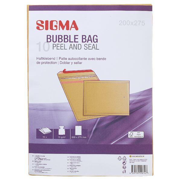 Sigma Luftpolstertaschen 202 x 275 20  x  27,5 cm - 10 Stück