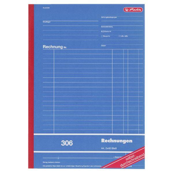 Herlitz Rechnungsbuch DIN A4 - 3 x