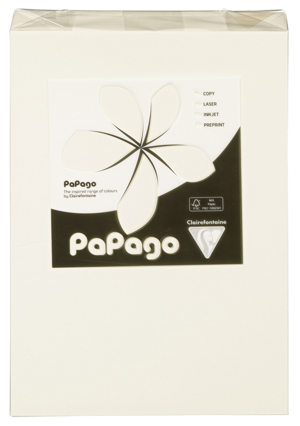 Papago Kopierpapier Elfenbein Blanko DIN A4 160 g/m² - 250 Blatt