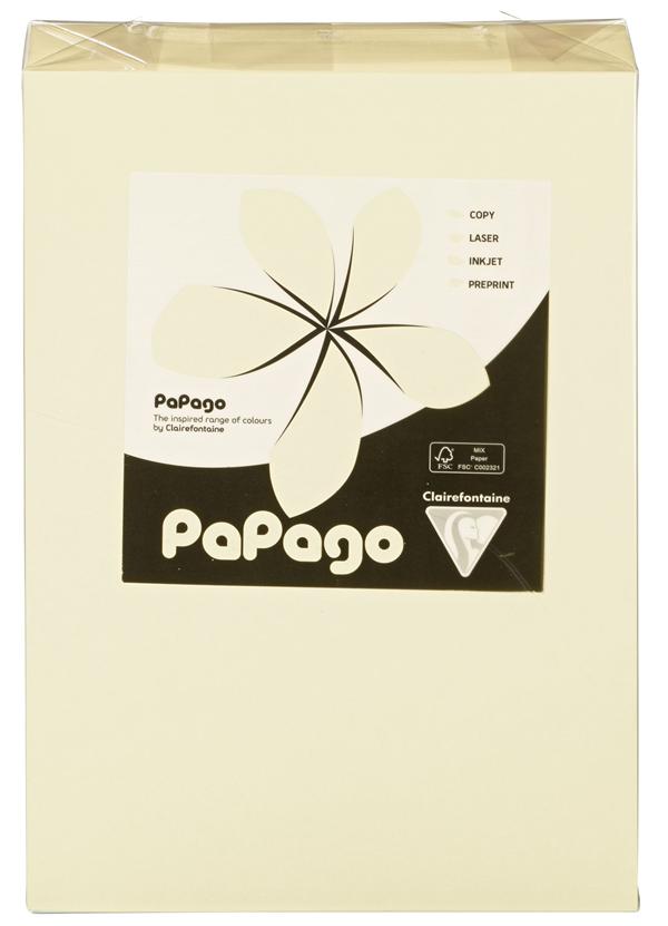 Papago Kopierpapier Chamois Blanko DIN A4 160 g/m² - 250 Blatt