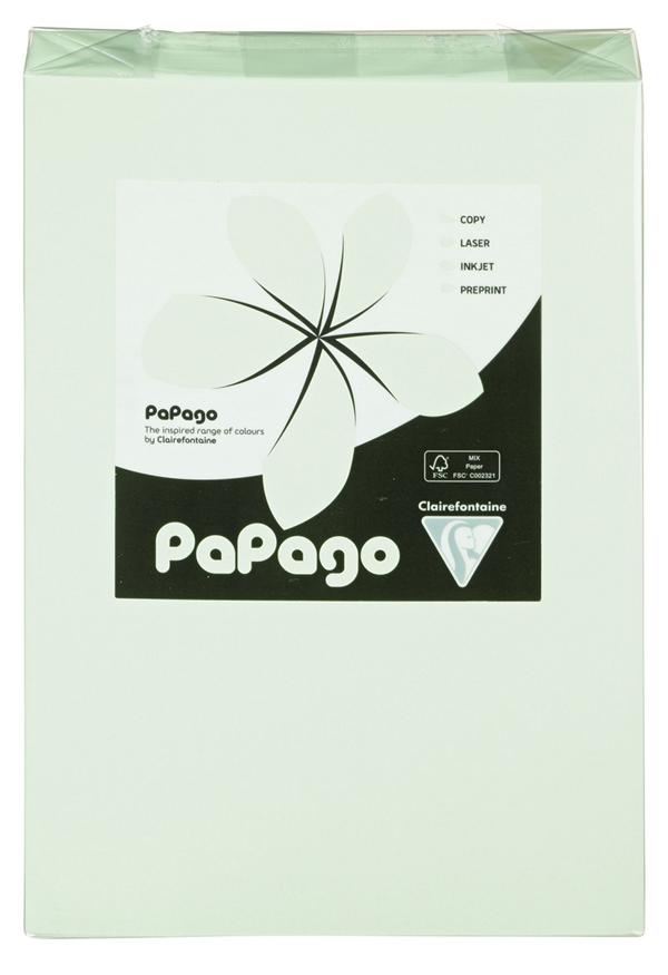 Papago Kopierpapier Hellgrün Blanko DIN A4 160 g/m² - 250 Blatt