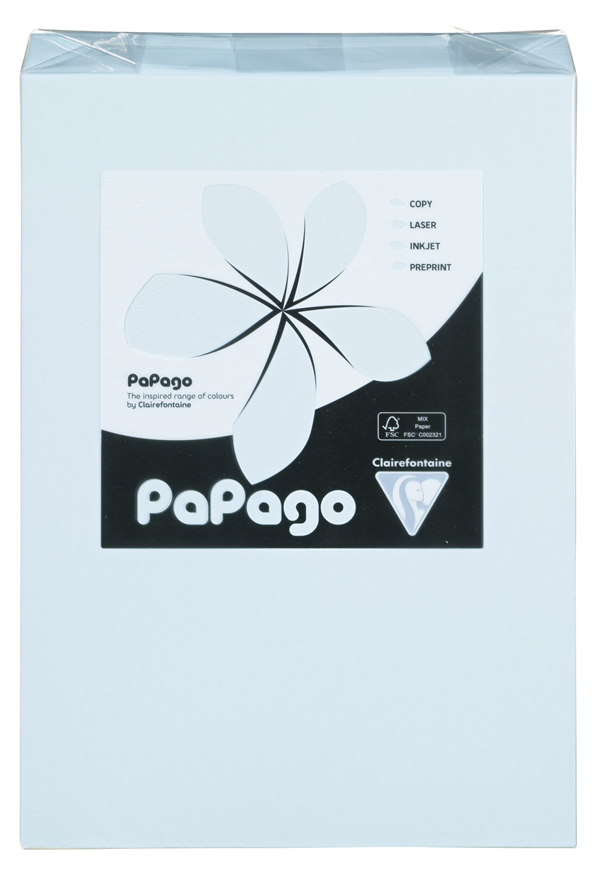 Papago Kopierpapier Himmelblau Blanko DIN A4 160 g/m² - 250 Blatt
