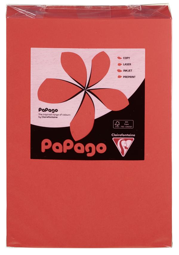 Papago Kopierpapier Rotorange Blanko DIN A4 160 g/m² - 250 Blatt