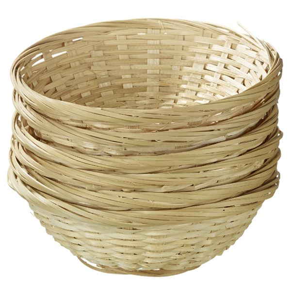 aro Bambuskorb 6 tlg. rund Ø 18 cm