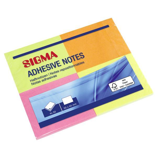 Sigma Haftnotizen - 5 x 200 Blatt