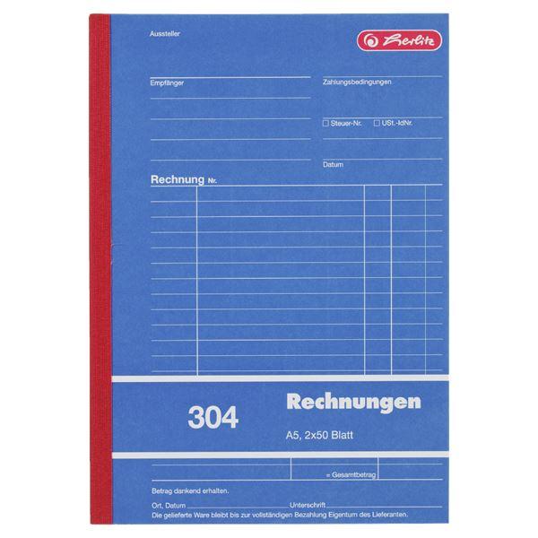 Herlitz 304 Rechnungen A5 - 10 x