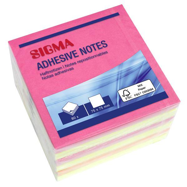 Sigma Haftnotizen - 6 x 80 Blatt
