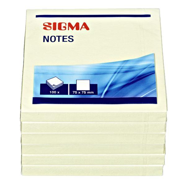 Sigma Haftnotizen - 6 x 100 Blatt