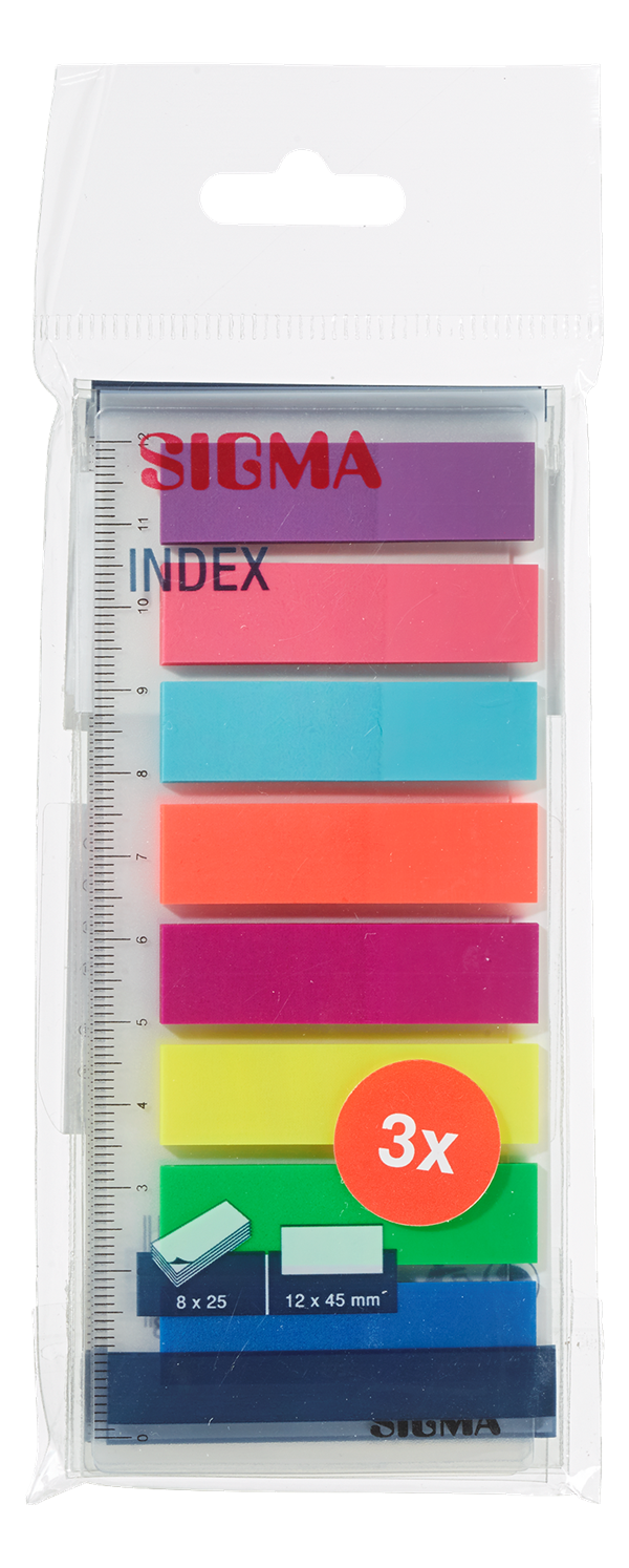 Sigma Index Haftmarker - 600 Streifen