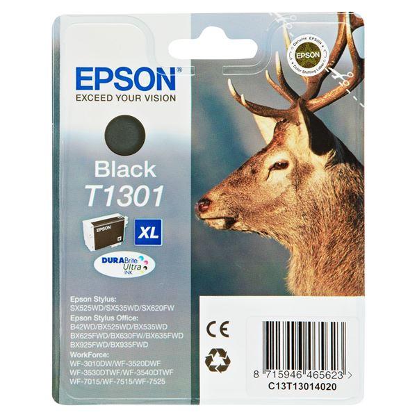Epson Tintenpatrone T1301 Black Schwarz