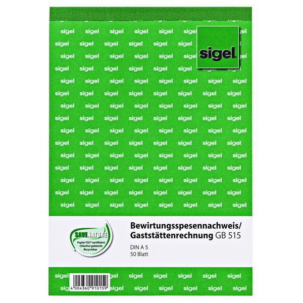 Sigel DIN A5 GB515 Bewirtungsnachweis - 50 Blatt