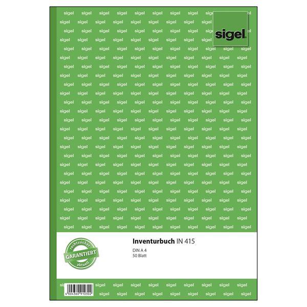 Sigel DIN A4 IN415 Inventurbuch - 50 Blatt