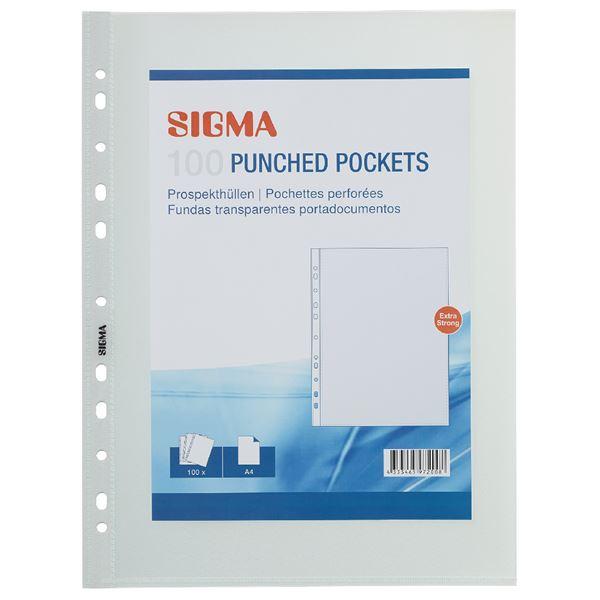Sigma Prospekthüllen Premium A4 - 100 Stück