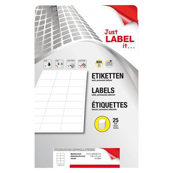 Schneider Etiketten selbstklebend - 25 Blatt