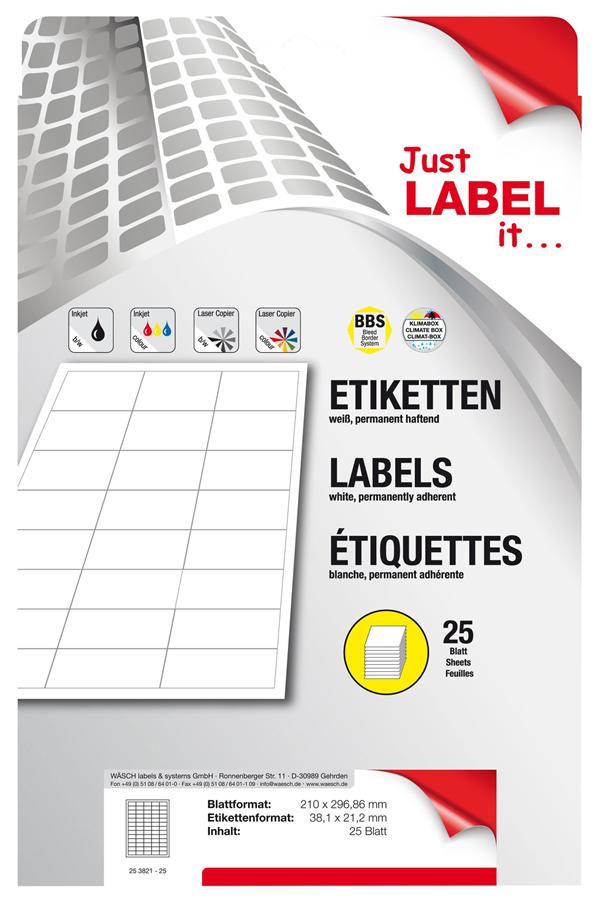 Schneider Etiketten selbstklebend 38,1 x 21,2 mm - 25 Blatt