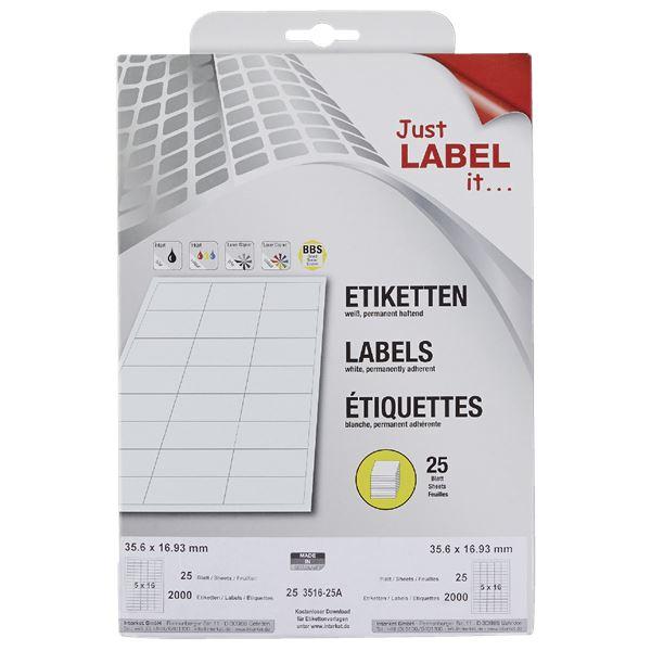 Wäsch Etiketten non permanent 16,9 mm  x  35,6 mm Weiß