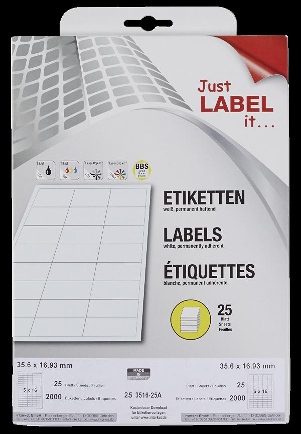 Schneider Etiketten non permanent 35,6 x 16,9 mm
