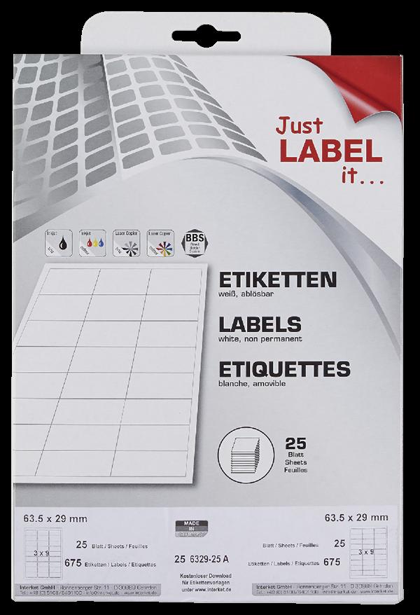 Schneider Etiketten non permanent 63,5 x 29 mm