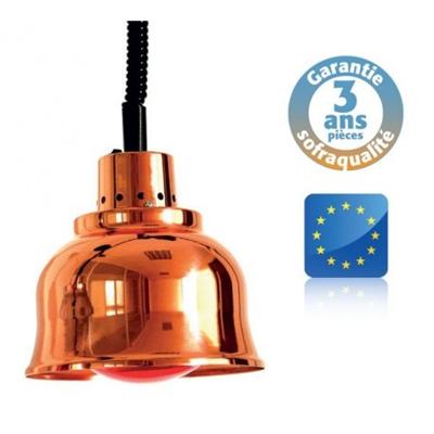 Lampe Chauffante Suspendue Cuivree Rouge Infra Rouge Prestige