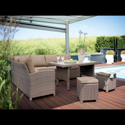 Salon de jardin en résine tressée Marbella Kettler | METRO