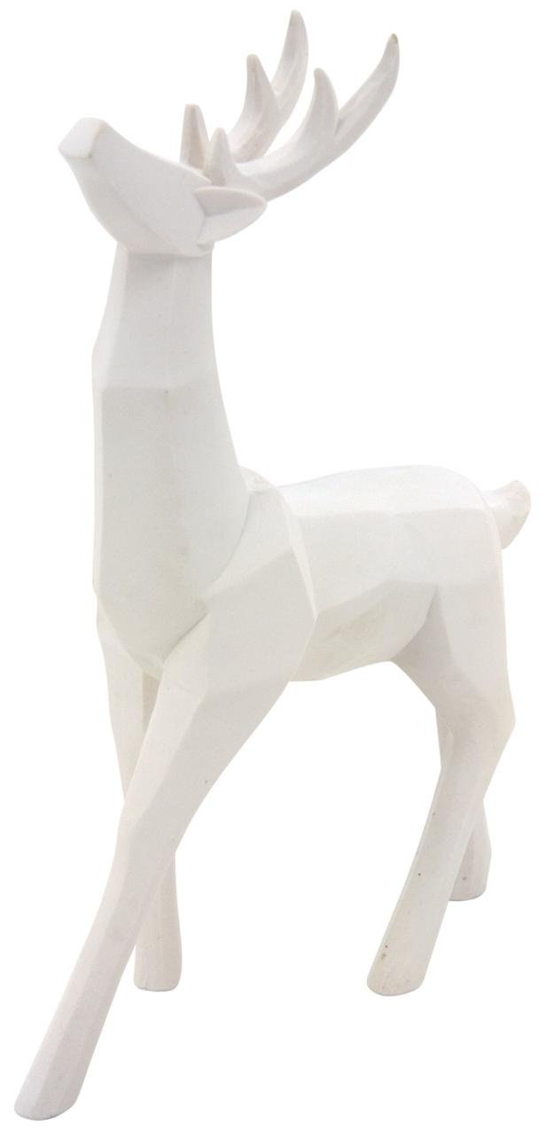 AUBRY GASPARD Cerf d/éco en r/ésine Blanche Origami