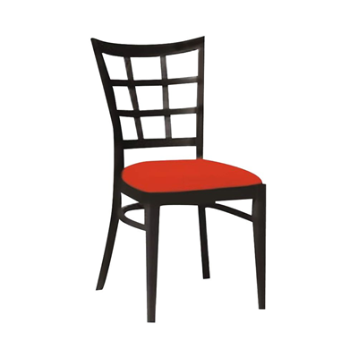 chaise bistrot boston weng rouge - Chaise Bistrot Rouge