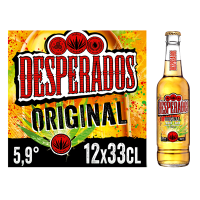 Biere Aromatisee A La Tequila 5 9 12 X 33 Cl Verre Perdu Desperados Red Metro