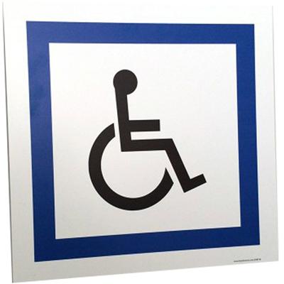 Panneau parking handicapé avec pictogramme Handinorme