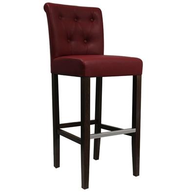 Chaise De Etoile Rouge Bar Haute Capitonnée Pk0Onw8X