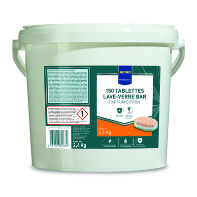 Metro.fr Pastille lave verre spécial bar citron x 150