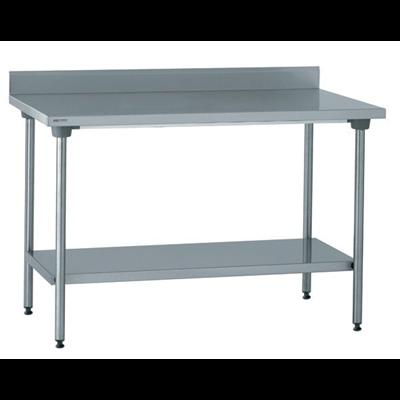 Table Inox Adossee Avec Etagere 140 X 60 Cm Metro