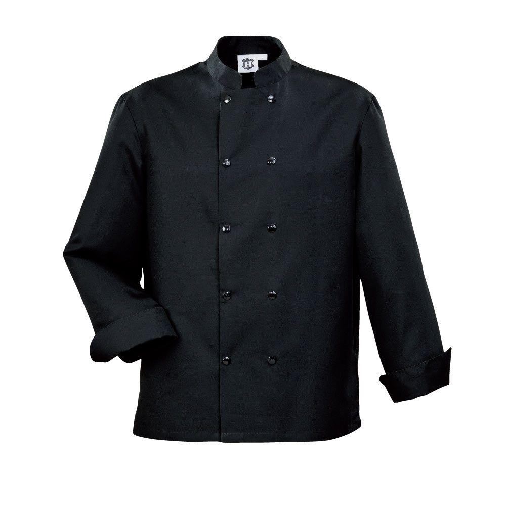 Veste de cuisine noire brodee