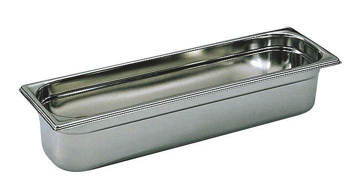 Bac gastro inox GN 2/4 H.15 cm plein sans anses Bourgeat - 743615