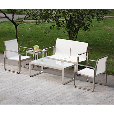 Salon de jardin Miami Set blanc SM France - 058915 | METRO