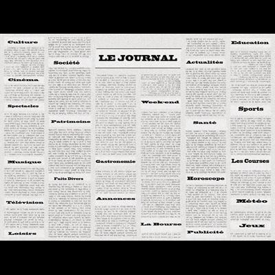 Set De Table Jetable Papier Journal Vintage 30 X 40 Cm X 500 Metro