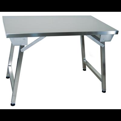 Table Inox Pliante 140 X 70 Cm Metro