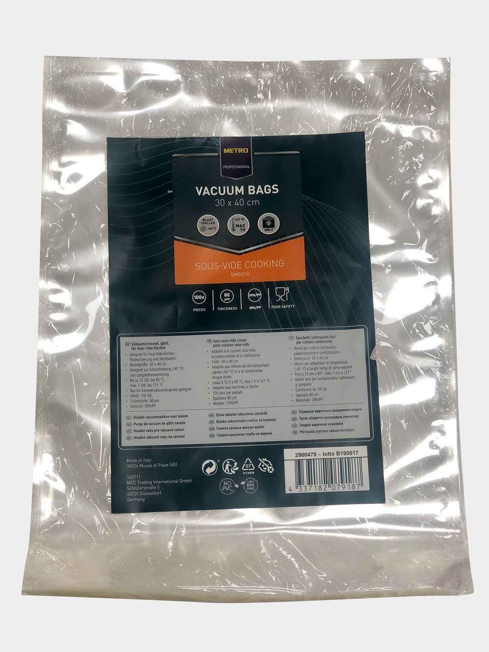 Sacs sous-vide lisses pour cuisson sous-vide 30X40 METRO Professional