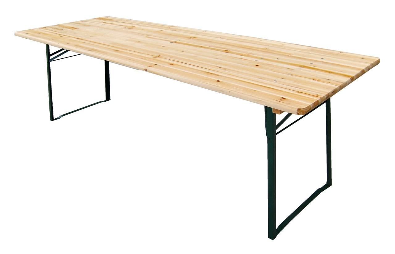 Gambe Pieghevoli Per Tavoli Vendita.Redi Tavolo Con Piano In Legno Misura 220x80 Gambe Pieghevoli In