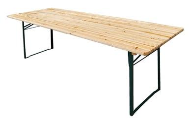 Tavoli Con Gambe Richiudibili.Redi Tavolo Con Piano In Legno Misura 220x80 Gambe Pieghevoli In