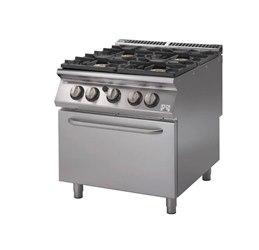 Horeca select cucina 4 fuochi su forno gas serie 700 80x70 - Manutenzione cucina a gas ...