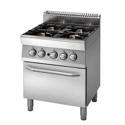 Cucina 4 fuochi su forno gas, piano con bacinelle, bruciatori ...